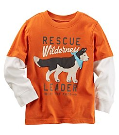 Carter's® Boys' 2T-4T Long Sleeve Layered Rescue Wilderness Tee
