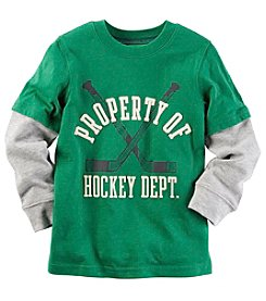 Carter's® Boys' 2T-8 Long Sleeve Layered Hockey Tee