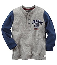 Carter's® Boys' 2T-8 Long Sleeve League Champion Henley Tee