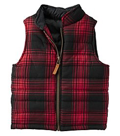 Carter's® Boys' 2T-8 Plaid Flannel Vest