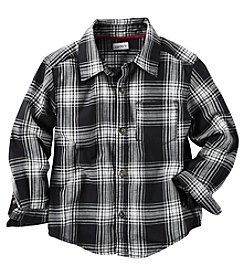 Carter's® Boys' 2T-8 Long Sleeve Flannel Buttondown Shirt