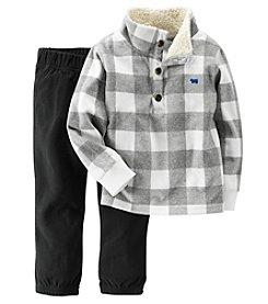 Carter's® Boys' 2T-4T 2-Piece Plaid Fleece and Pants Set