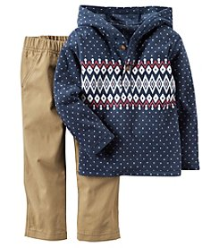 Carter's® Boys' 2T-4T 2-Piece Geo Hoodie and Pants Set
