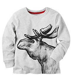 Carter's® Boys' 2T-8 Long Sleeve Moose Tee