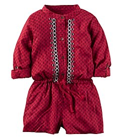 Carter's® Girls' 2T-8 Long Sleeve Embroidered Romper