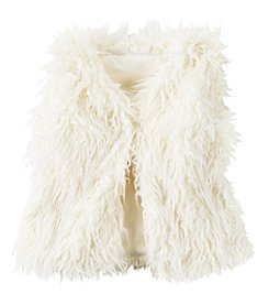 Carter's® Girls' 2T-8 Faux Sherpa Fur Vest