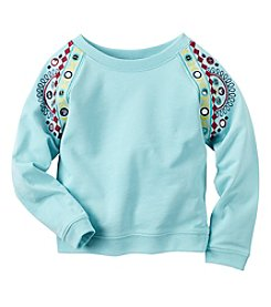 Carter's® Girls' 2T-8 Long Sleeve Embroidered Top