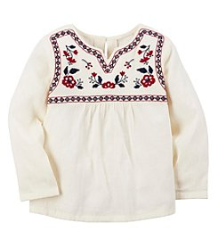 Carter's® Girls' 2T-8 Long Sleeve Embroidered Peasant Top