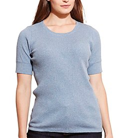 Lauren Ralph Lauren® Plus Size Ribbed Cotton Tee