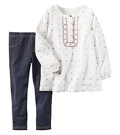 Carter's® Girls' 2T-4T 2-Piece Geo Tunic And Jeggings Set
