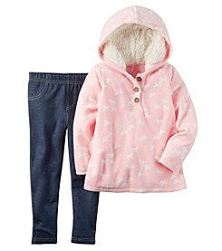 Carter's® Girls' 2T-4T 2-Piece Hooded Horses Top And Jeggings Set