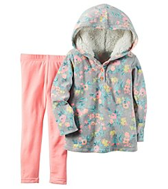 Carter's® Girls' 2T-4T 2-Piece Hooded Floral Top And Leggings Set