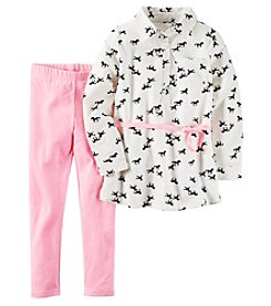 Carter's® Girls' 4-8 2-Piece Belted Horses Tunic And Leggings Set