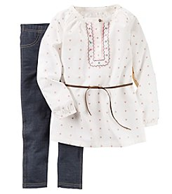 Carter's® Girls' 4-8 2-Piece Belted Geo Tunic And Jeggings Set