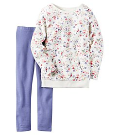 Carter's® Girls' 4-8 2-Piece Long Sleeve Floral Top And Leggings Set