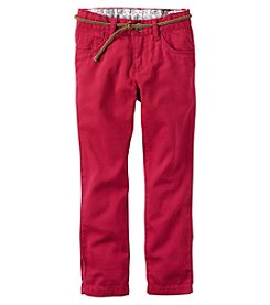 Carter's® Girls' 2T-8 Solid Rolled Twill Pants