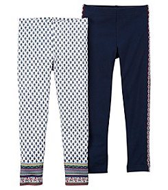 Carter's® Girls' 2T-8 2-Pack Geo Leggings