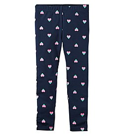 Carter's® Girls' 2T-8 Foil Heart Leggings