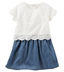 OshKosh B'Gosh® Girls' 2T-4T Eyelet Chambray Dress