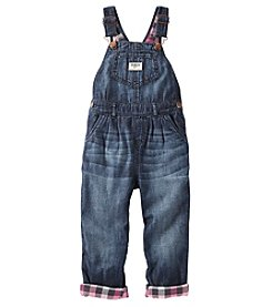 OshKosh B'Gosh® Girls' 2T-4T Flannel Lined Overalls