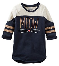 OshKosh B'Gosh® Girls' 2T-6X Long Sleeve Meow Tunic