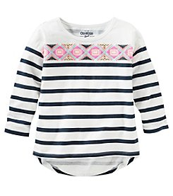 OshKosh B'Gosh® Girls' 2T-6X Long Sleeve Striped High-Low Tunic