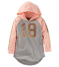 OshKosh B'Gosh® Girls' 2T-8 Long Sleeve Hooded Glitter 18 Tunic