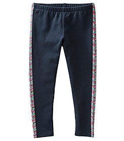OshKosh B'Gosh® Girls' 2T-6X Glitter Geo Tuxedo Striped Leggings