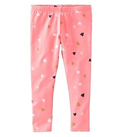 OshKosh B'Gosh® Girls' 2T-8 Glitter Heart Leggings