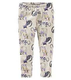 OshKosh B'Gosh® Girls' 2T-6X All Over Cat Leggings