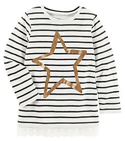 OshKosh B'Gosh® Girls' 2T-6X Long Sleeve Gold Star Tunic