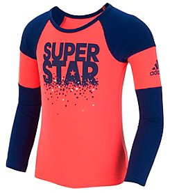 adidas® Girls' 2T-6X Long Sleeve Super Star Tee