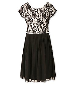 Speechless® Girls' 7-16 Lace Belted Dress