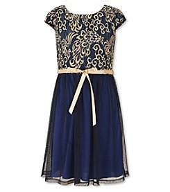 Speechless® Girls' 7-16 Cap Sleeve Lace Dress
