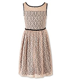 Speechless® Girls' 7-16 Lace Fit and Flare Dress
