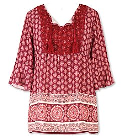 Speechless® Girls' 7-16 Bell Sleeve Peasant Top