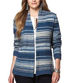 Chaps® Plus Size Striped Cardigan