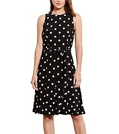 Lauren Ralph Lauren® Polka-Dot Jersey Dress