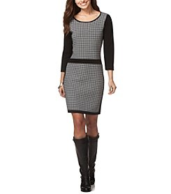Chaps® Houndstooth Sweater Dress