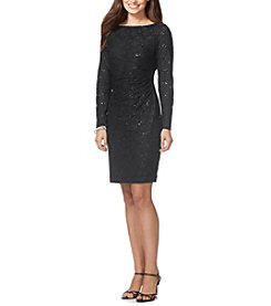 Chaps® Sequined Lace Dress