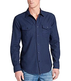 William Rast® Men's Branson Herringbone Long Sleeve Button Down Shirt