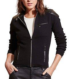 Lauren Ralph Lauren® Stretch Cotton Moto Jacket
