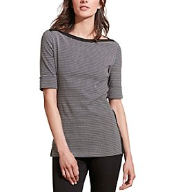 Lauren Ralph Lauren® Striped Stretch Cotton Tee