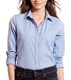 Lauren Ralph Lauren® Striped Stretch Cotton Shirt