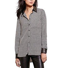Lauren Ralph Lauren® Houndstooth Crepe Shirt