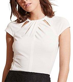 Lauren Ralph Lauren® Cutout-Neckline Jersey Top