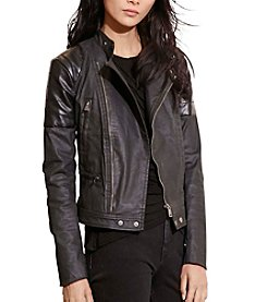 Lauren Ralph Lauren® Coated Moto Jacket