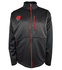 Champion® NCAA® Wisconsin Badgers Men's Game Plan Full Zip Fleece