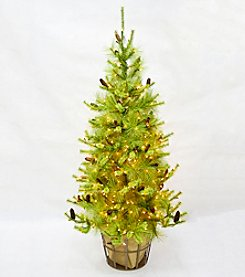 LivingQuarters Wanderlust Collection 8.5' Artificial Pre-lit Pine
