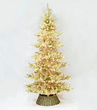 LivingQuarters Western Collection 6' Artificial Pre-lit Pine